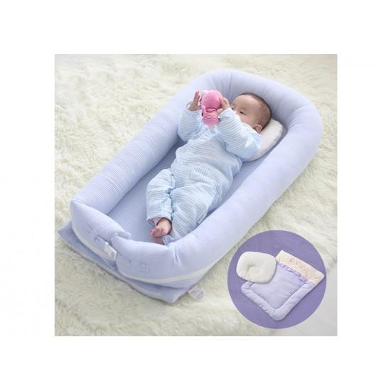 Sunveno - Baby Co-Sleeping Bed - Organic Blue