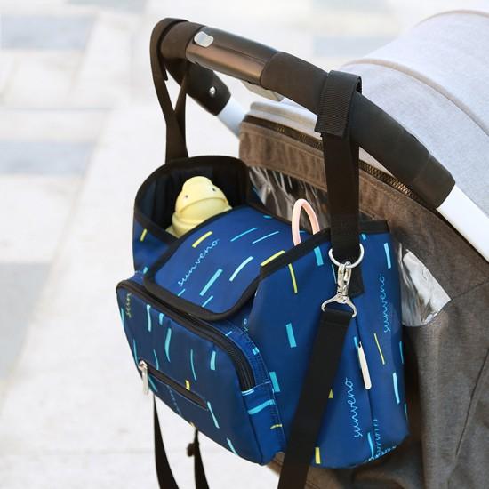 Sunveno - Baby Stroller Organizer Bag - Blue Strip