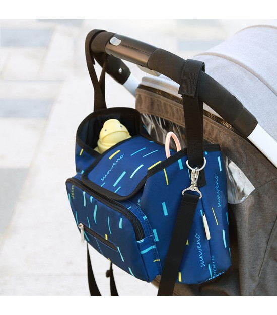 Sunveno Baby Stroller Organizer/Bag - Blue strip