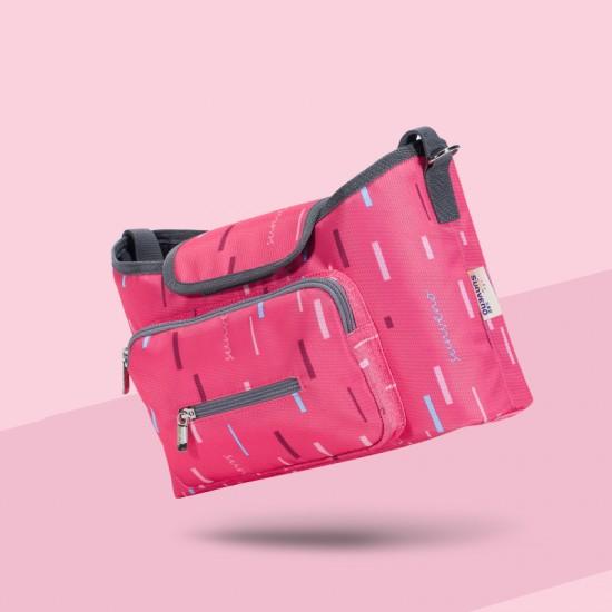 Sunveno - Baby Stroller Organizer Bag - Pink Strip