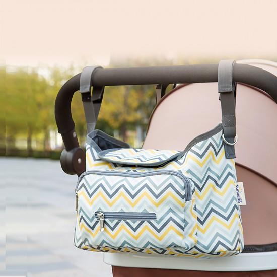 Sunveno - Baby Stroller Organizer Bag - Yellow Wave