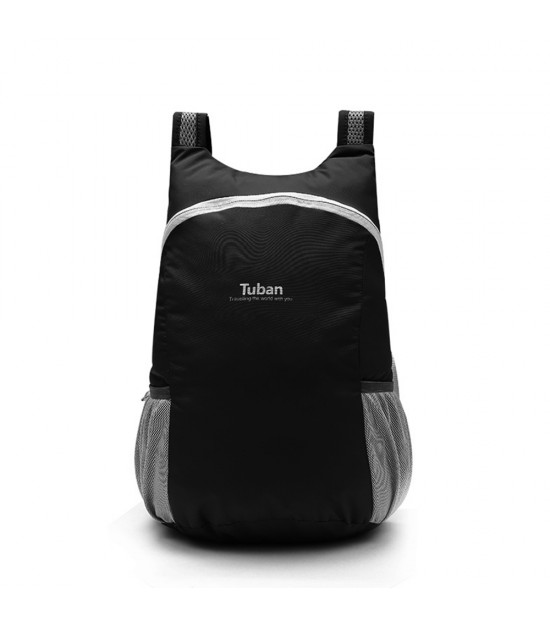 Tuban Waterproof Folding Backpack - Black