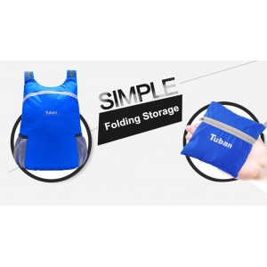 TUBAN Lightweight Nylon Foldable Backpack Waterproof Folding Outdoor Bag 18L