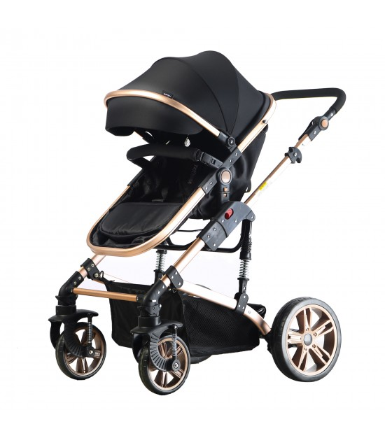 Teknum 3 in 1 Pram stroller - Black