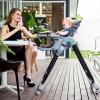 Teknum Premium High Chair with Wheels - Grey