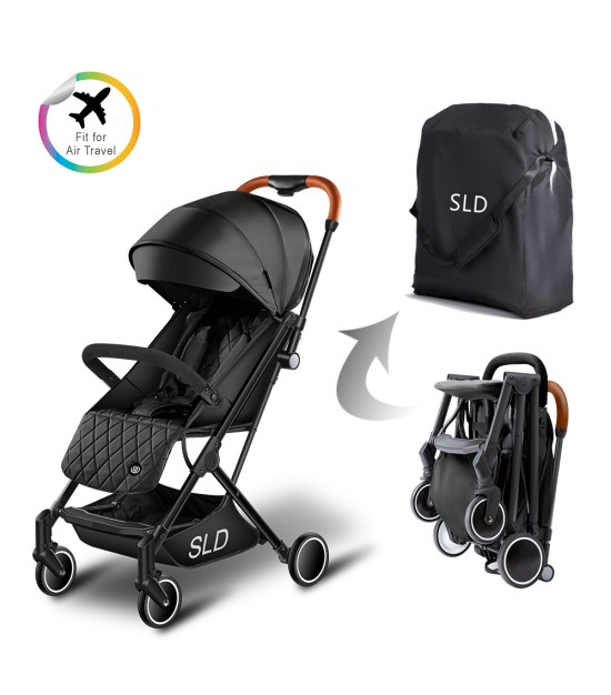 Travel Lite Stroller - SLD by Teknum - Black