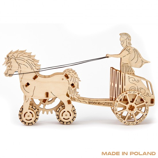 Wooden City - Roman Chariot 3D Mechanical Model - Brown