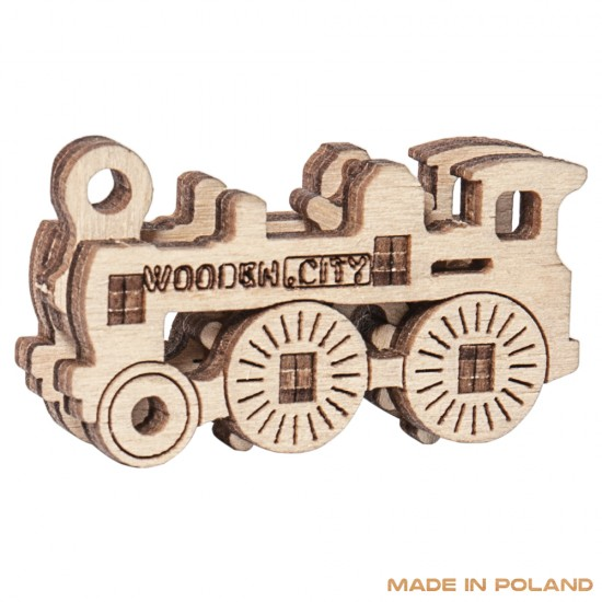 Wooden City - Transport Widgets 3D Mechanical Model - Brown