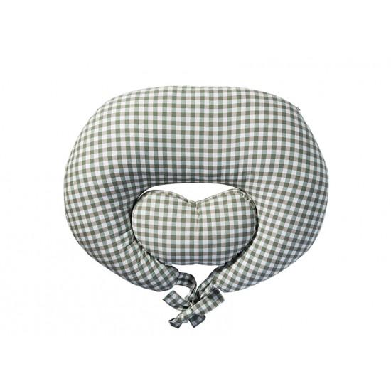 Sunveno Pregnancy & Feeding Heart Pillow Organic Cotton - Green