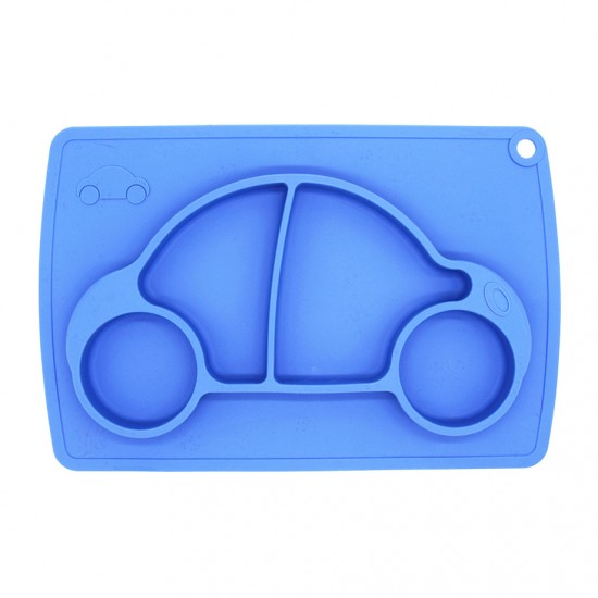 Eazy Kids Plate - Car - Blue
