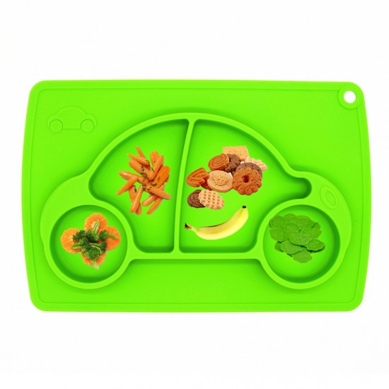 Eazy Kids Plate - Car - Green