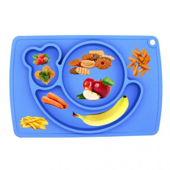 Eazy Kids Plate - Snail - Blue