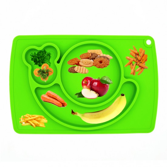 Eazy Kids Plate - Snail - Green